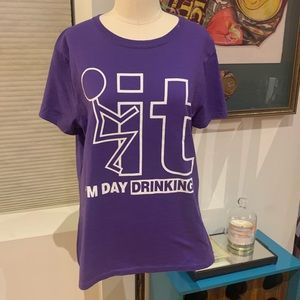 "Purple T Shirt - ""Day Drinking"""